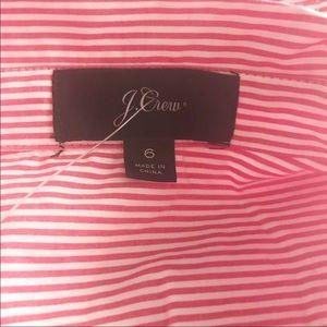J. Crew Dresses - NWOT J. Crew tie waist shirt dress in red stripe
